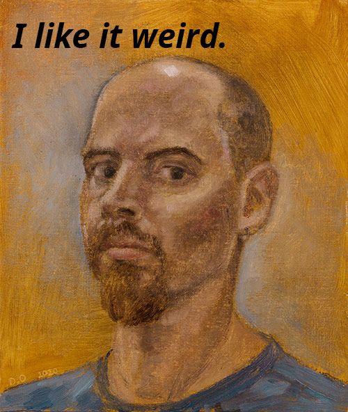 13-Weird-Questions-Beginner-Oil-Painters-Ask-by-Damian-Osborne,-self-portrait-2020-I-like-weird