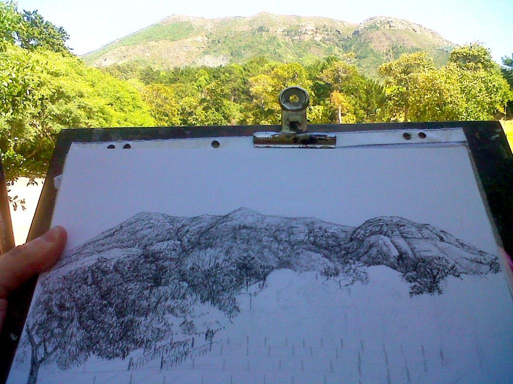 Before starting a painting, drawing from life is importrant, pen drawing of landscape