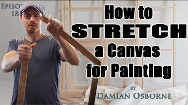 How to Stretch a Canvas for Painting — the Easy Way!