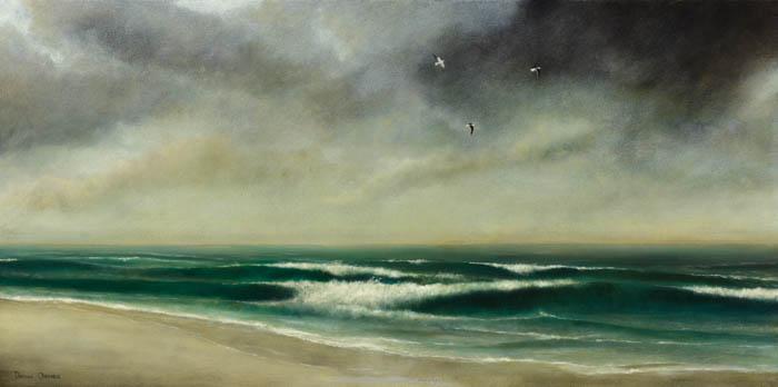 Muizenberg Seascape, oil on canvas, Damian Osborne, 2010