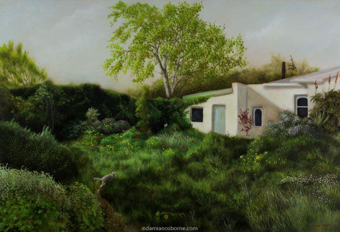 Spring in the Garden, oil on canvas, Damian Osborne, 2008