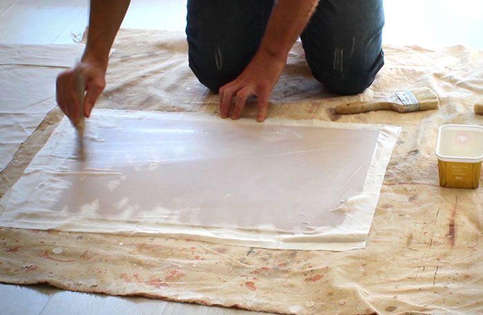 Using-PVA-glue-size-on-canvas-panels-Damian-Osborne