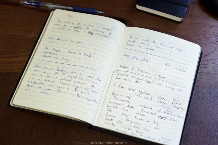 Keeping a journal, more meaningful art, Damian Osborne, 2021