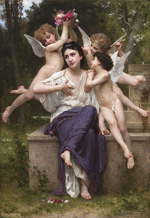 William-Adolphe_Bouguereau_(1825-1905)_-_A_Dream_of_Spring_(1901)