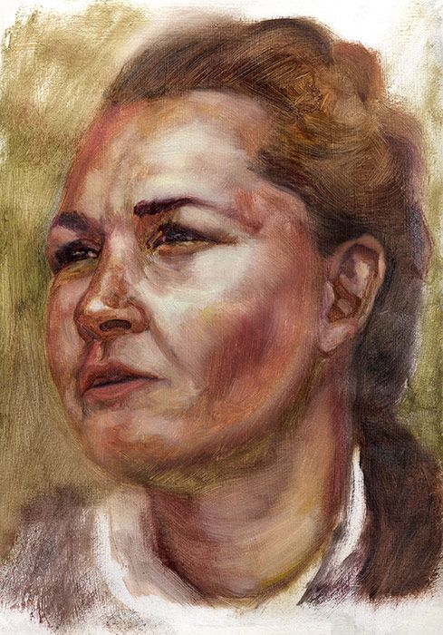Alla-prima-portrait-study-of-Melissa-by-Damian-Osborne,-oil-in-sketchbook,-2019