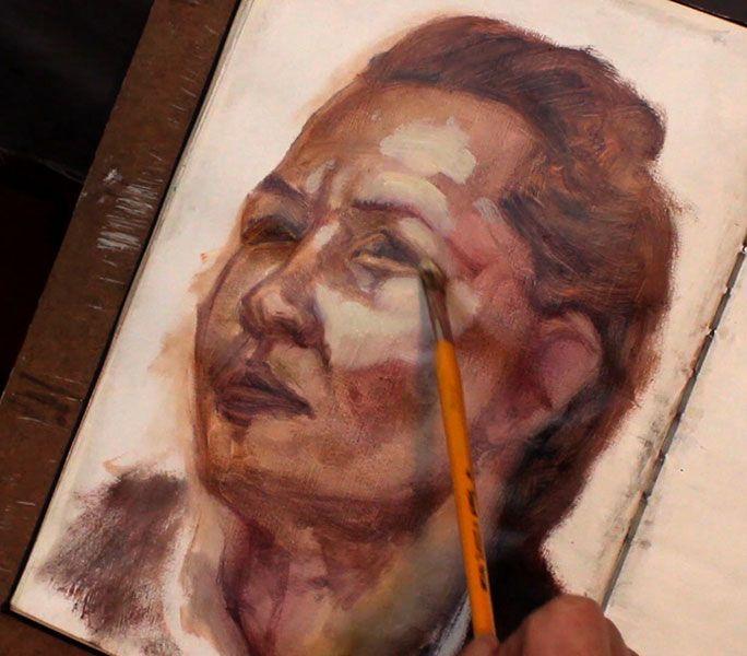 Alla-prima-portrait-study,-zorn-colour-palette,-Damian-Osborne
