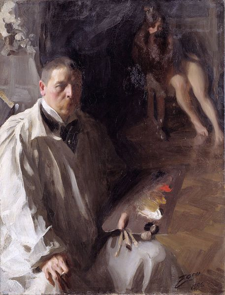 Anders Zorn, self portrait, 1896-Damian Osborne