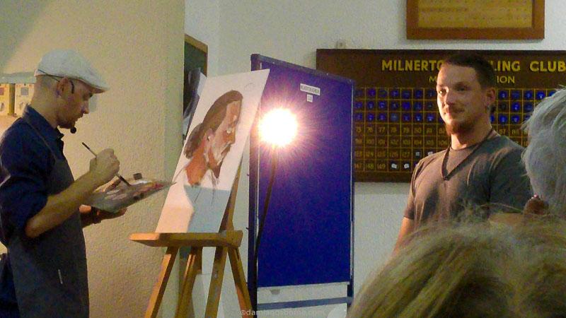 Blocking in oil colours Zorn palette portrait demo by Damian Osborne