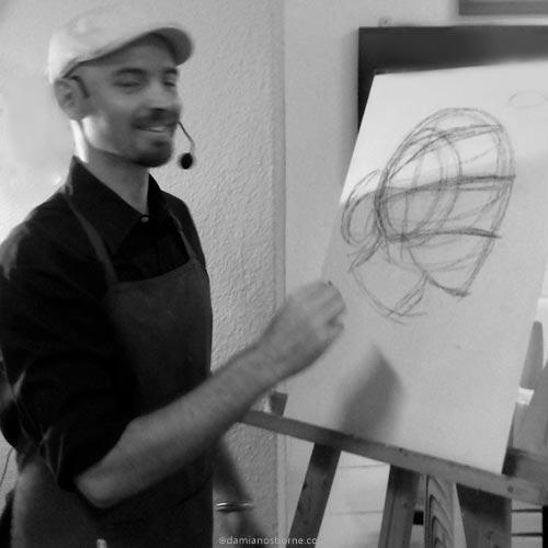 Damian Osborne, contemporary figurative and landscape artist, art teacher