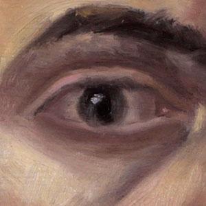 Damian-Osborne-self-portrait-zorn-palette-eye