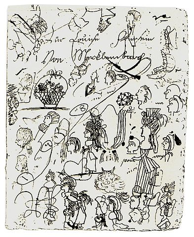 Doodle by Luise von Mecklenburg-Strelitz, Queen of Prussia, c. 1795