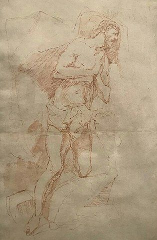 El Greco, Study for the Baptism of Christ gesture drawing