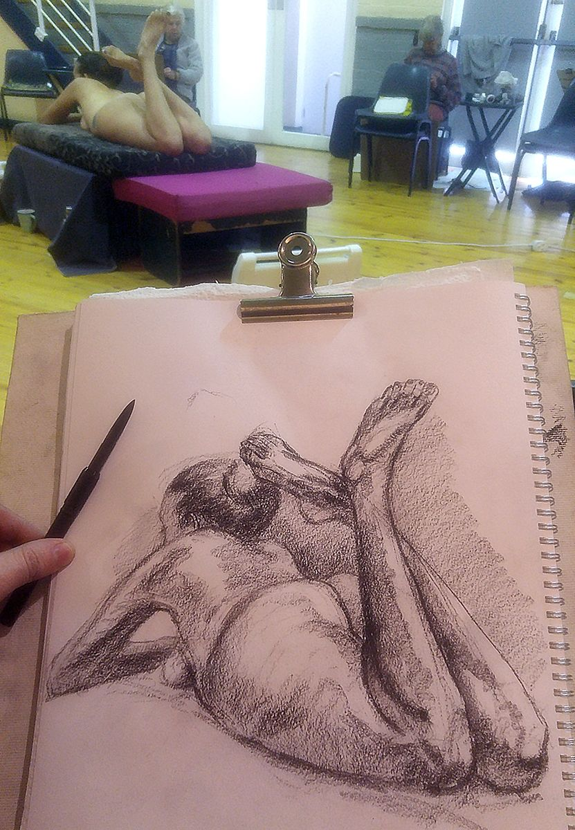 Life drawing for the Sirens Series,