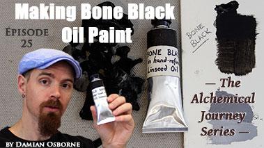 Making Bone Black Oil Paint