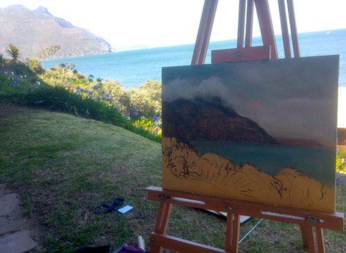 Painting-a-seascape-en-plein-air-by-Damian-Osborne