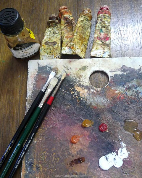 Painting the Traditional Way, part 3, oil pigments for painting the dead layer, Damian Osborne