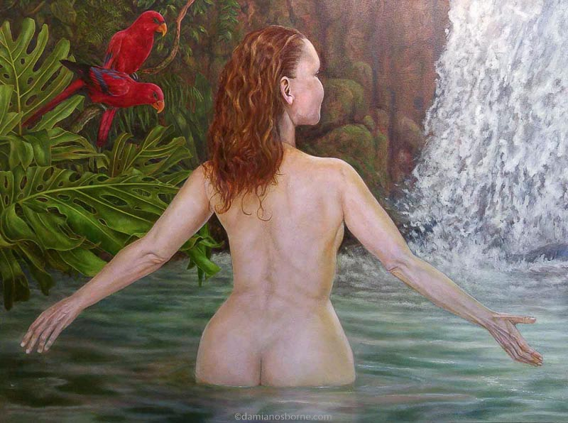 Painting the Traditional Way, part 5, final glazing in oils, scumbling and glazing the figure, Damian Osborne