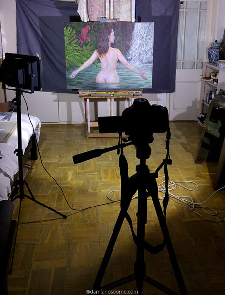 Painting the Traditional Way, part 5, photographing oil paintings, Damian Osborne
