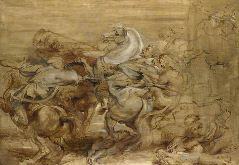 Rubens, Peter Paul, 1577-1640; A Lion Hunt Damian Osborne