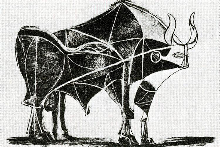 Picasso, bull plate V 1945