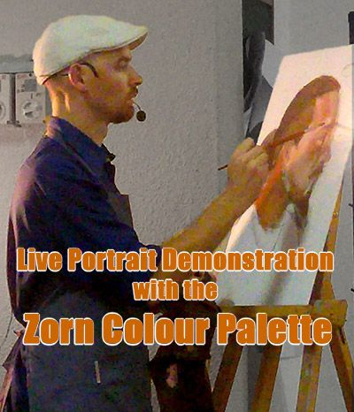 Live Portrait Demonstration with the Zorn Colour Palette