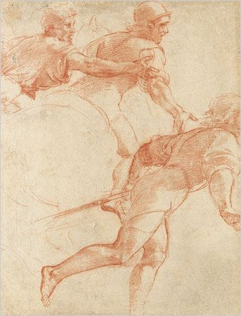Raphael, Study of Soldiers