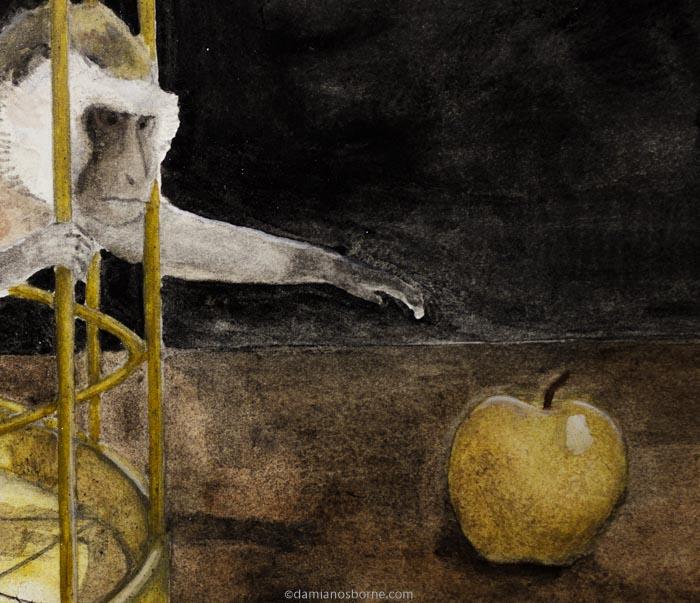 Reaching for the golden apple, Damian Osborne, 2021