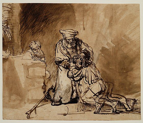 Rembrandt, Return of the Prodigal Son drawing
