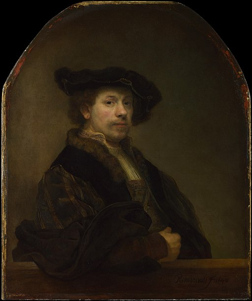 Rembrandt, self-portrait at the age of 34