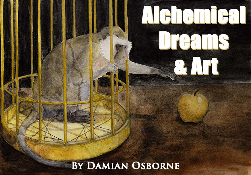 Silver Monkey in a Golden Cage, Alchemical Dreams and Art, Damian Osborne, 2021