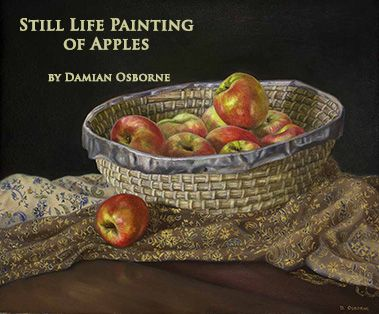 Still Life Painting of Apples