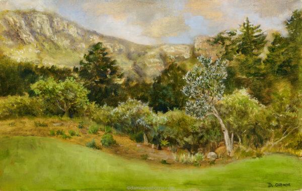 The Silver Tree, oil on panel, 19 x 30 cm, Damian Osborne, 2021, high resolution
