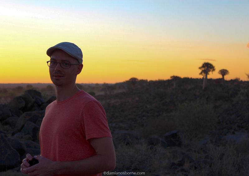 Who Am I and What Am I Doing as a Full-Time Artist, Damian Osborne, Namibia quivertree forest